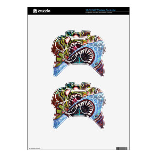 Zombie Shark Fight Xbox 360 Controller Decal