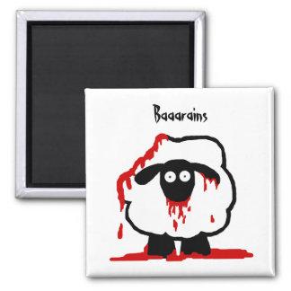 Zombie Sheep Magnet - Baaarains