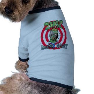 Zombie Shooting Range Dog Tshirt