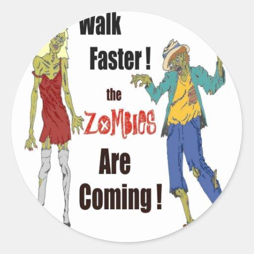 Zombie Shuffle Classic Round Sticker