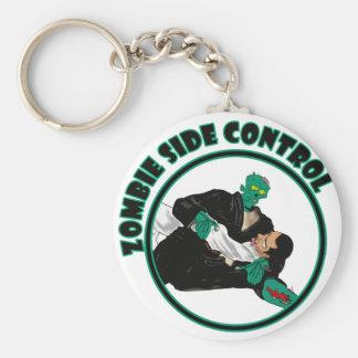 Zombie Side Control Basic Round Button Keychain