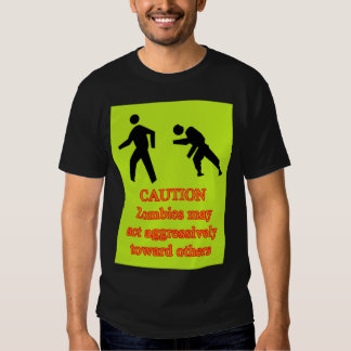 zombie sign shirt