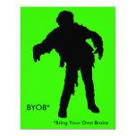 Zombie Silhouette 4.25x5.5 Paper Invitation Card