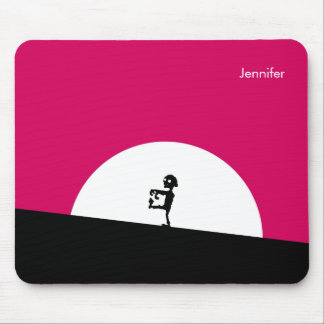 Zombie Silhouette with Full Moon Personalized Mouse Pad