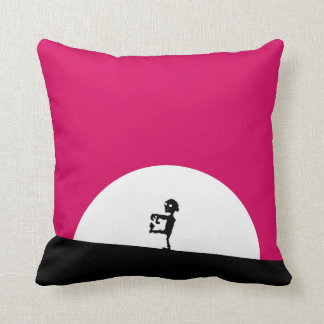 Zombie Silhouette with Full Moon Throw Pillow
