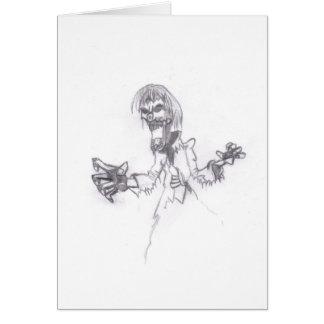 Zombie Sketch Card