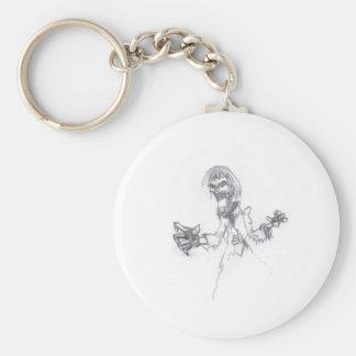 Zombie Sketch Keychain