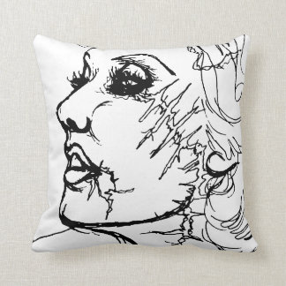 Zombie Sketch Pillow
