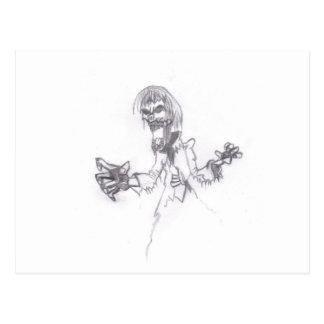 Zombie Sketch Postcard