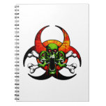 Zombie Skull and Crossbones Spiral Notebook
