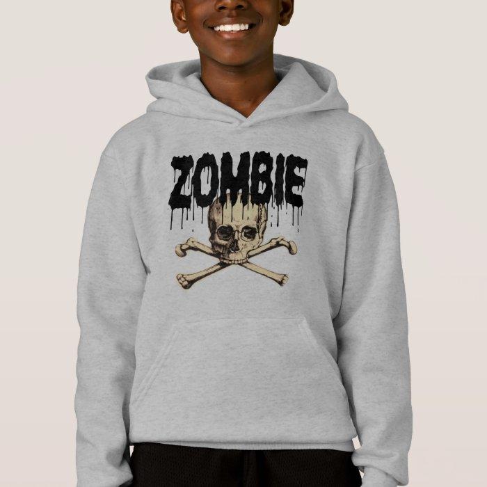 Zombie Skull Black Hoodie