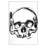 Zombie Skull Drawing 4 Dry Erase Whiteboards