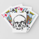 Zombie Skull Drawing 4 Playing Cards