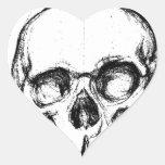 Zombie Skull Drawing 4 Sticker