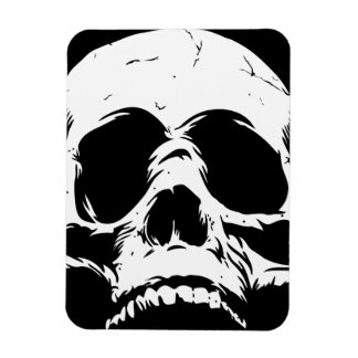 Zombie Skull Face Magnet