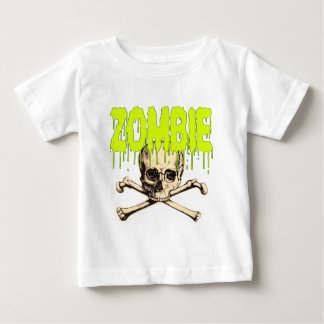 Zombie Skull - Green Baby T-Shirt