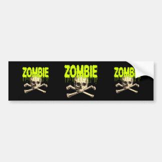 Zombie Skull - Green Bumper Sticker