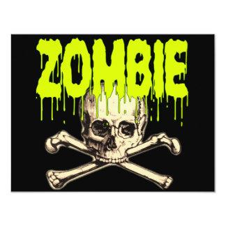 Zombie Skull - Green Card