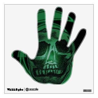Zombie Skull (Green) Wall Sticker