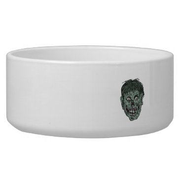 Halloween Themed Zombie Skull Head Drawing Bowl