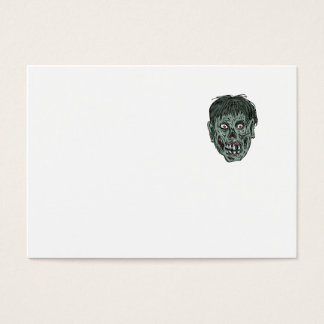 Zombie Skull Head Drawing Business Card