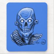Zombie Skull Head mousepad