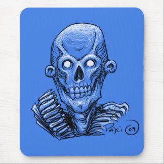 Zombie Skull Head Mouse Pad