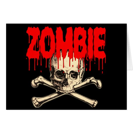 Zombie Skull Red Card