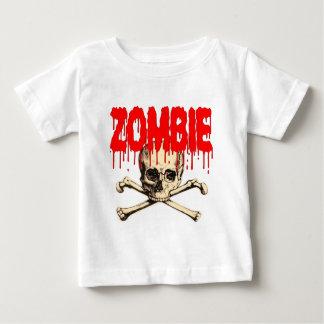 Zombie Skull Red Tshirt