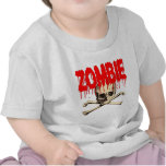 Zombie Skull Red Tshirts