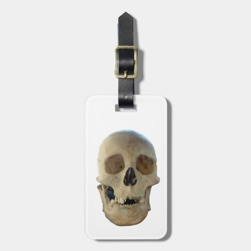 Zombie Skull Travel Bag Tags