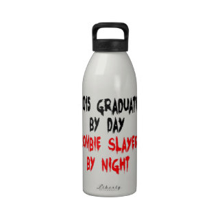 Zombie Slayer 2015 Graduate Reusable Water Bottles