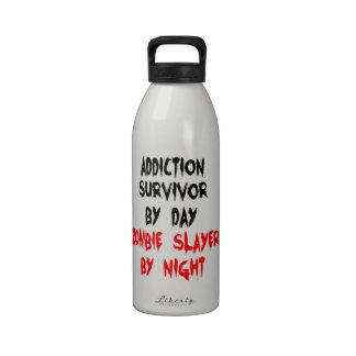 Zombie Slayer Addiction Survivor Water Bottle
