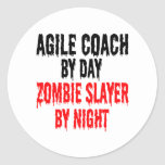 Zombie Slayer Agile Coach Classic Round Sticker