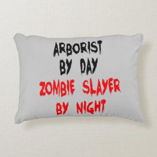 Zombie Slayer Arborist Accent Pillow