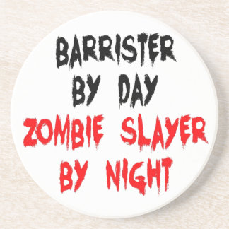 Zombie Slayer Barrister Drink Coaster