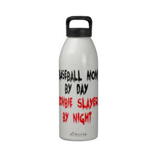 Zombie Slayer Baseball Mom Reusable Water Bottle