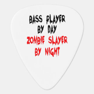 Zombie Slayer Bass Player Guitar Pick