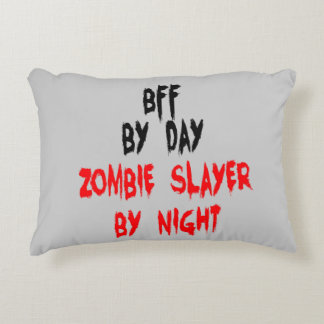 Zombie Slayer Best Friend Forever or BFF Decorative Pillow