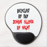 Zombie Slayer Bicyclist Gel Mouse Pad