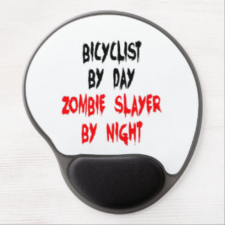 Zombie Slayer Bicyclist Gel Mouse Mat