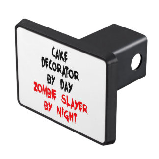 Zombie Slayer Cake Decorator Trailer Hitch Cover