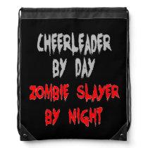 Zombie Slayer Cheerleader Drawstring Bag