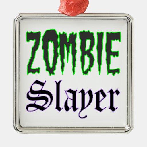 Zombie Slayer Christmas Ornament