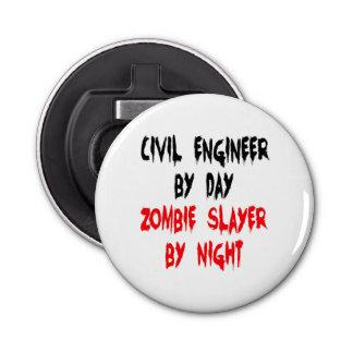 Zombie Slayer Civil Engineer Bottle Opener