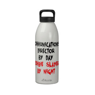 Zombie Slayer Communications Director Water Bottles