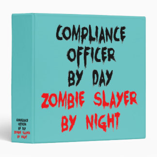 Zombie Slayer Compliance Officer Vinyl Binder