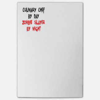 Zombie Slayer Culinary Chef Post-it® Notes