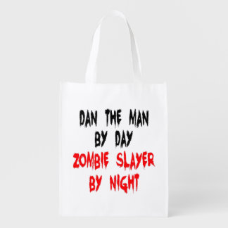 Zombie Slayer Dan the Man Grocery Bags