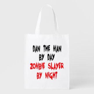 Zombie Slayer Dan the Man Grocery Bag
